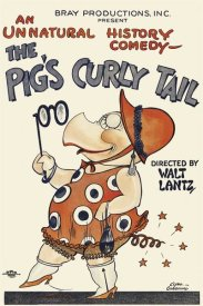 Unknown 20th Century American Illustrator - Movie Poster: The Pig's Curly Tail