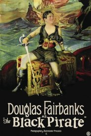 Unknown 20th Century American Illustrator - Movie Poster: Douglas Fairbanks - The Black Pirate