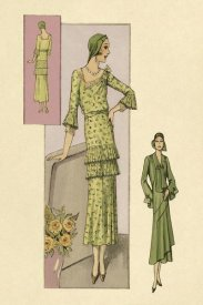 Vintage Fashion - Green Daytime Fashions