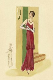 Vintage Fashion - Scarlet Evening Gown