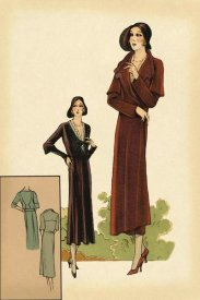 Vintage Fashion - Modeles Originaur: Burgundy Chic