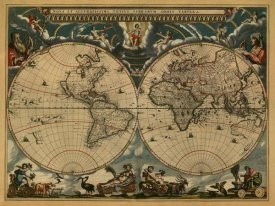 Johannes Blaeu - New & Accurate Map of the World