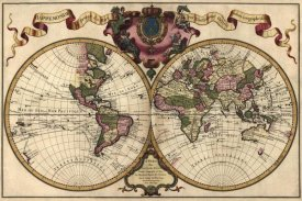Guillaume de L'Isle - World Map Prepared for then French King