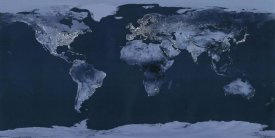 Goddard Space Center - Satellite View of the World Showing Electric Lights and Usage