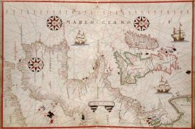 Joan Oliva - Portolan Map of Spain, England, Ireland & France