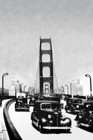 Vintage San Francisco - The Golden Gate Bridge, San Francisco, CA