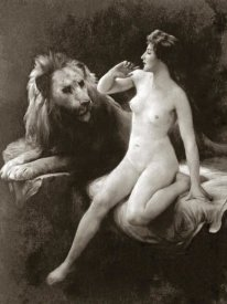 Vintage Nudes - Nude with a Lion