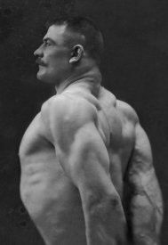 Vintage Muscle Men - Flexing Triceps, Deltoids, and Trapezius