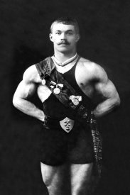 Vintage Muscle Men - Bodybuilder in Sash