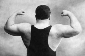 Vintage Wrestler - Russian Wrestler's Back and Shoulders