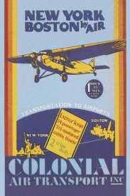 Unknown - Colonial Air Transport - New York to Boston by Air