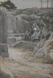 James Tissot - The Two Marys Watch the Tomb, The Life of Our Lord Jesus Christ, 1886-1894