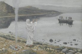 James Tissot - Christ Appears on the Shore of Lake Tiberias, The Life of Our Lord Jesus Christ, 1886-1894