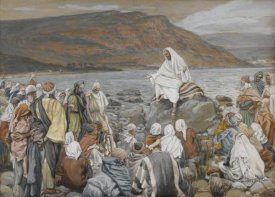 James Tissot - Jesus Teaches the People by the Sea, The Life of Our Lord Jesus Christ, 1886-1894