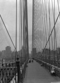 Daniel Berry Austin - Brooklyn Bridge, Looking at New York City from Brooklyn, July 7, 1899