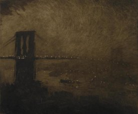 Joseph Pennell - Brooklyn Bridge at Night, 1922