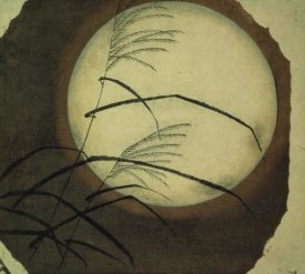Utagawa Hiroshige (Ando) - Wind Blown Grass Across the Moon, 19th century
