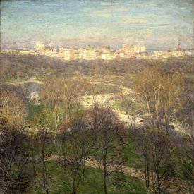 Willard Leroy Metcalf - Early Spring Afternoon--Central Park, 1911