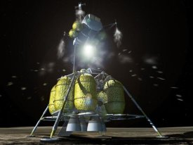 NASA - Launch of Lunar Surface Access Module (LSAM), Project Constellation