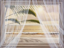 Diane Romanello - Framed Surf & Palm View