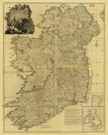 John Rocque - Composite: Ireland, 1790 - Tea Stained