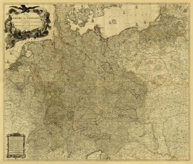 Louis Stanislas d'Arcy Delarochette - Map of the Empire of Germany, 1790 - Tea Stained