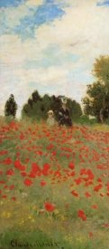 Claude Monet - Field Of Poppies (Les Coquelicots) 1873 (left)
