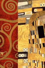 Klimt Patterns - The Kiss Gold (left)