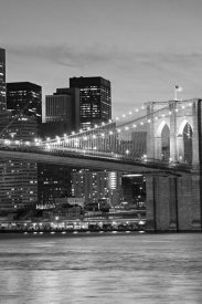 Unknown - Brooklyn Bridge at Night (center)