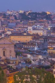 Miles Ertman - View of the historic center of Rome at night (center)