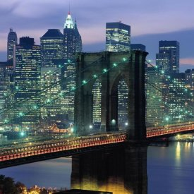 Richard Berenholtz - Brooklyn Bridge and Skyline (center)
