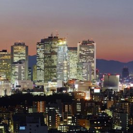 Unknown - City Skyline, Shinjuku District, Tokyo, Japan (right)