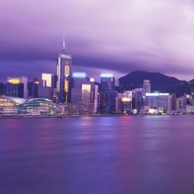 Reed Kaestner - Hong Kong Central District's Skyline at Twilight (left)