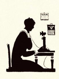 Maxfield Parrish - Homemaker Makes a Phone Call