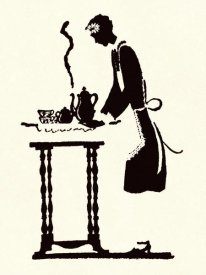 Maxfield Parrish - Maid Prepares Hot and Steaming Coffee