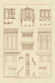 J. Buhlmann - Doric Order, Temple of Zeus and Cased Column