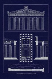 J. Buhlmann - The Parthenon at Athens (Blueprint)