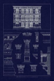J. Buhlmann - Palazzo Vendramin-Calergi at Venice (Blueprint)