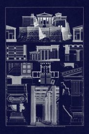 J. Buhlmann - The Propylaea of the Acropolis at Athens (Blueprint)