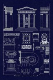 J. Buhlmann - Temple of Nike Apteros at Athens (Blueprint)