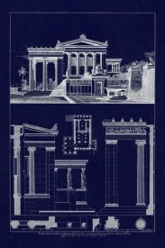 J. Buhlmann - The Erechtheum at Athens (Blueprint)