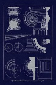J. Buhlmann - Capitals of the Erechtheum (Blueprint)