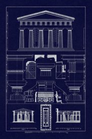 J. Buhlmann - Temple of Poseidon at Paestum (Blueprint)