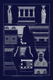 J. Buhlmann - Porch of Caryatids, Polychrome (Blueprint)