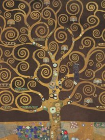 Gustav Klimt - Tree of Life (Brown Variation) V