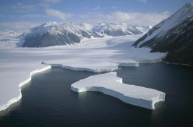Tui De Roy - Dugdale and Murray Glaciers descending into Robertson Bay, Victoria Land, Antarctica