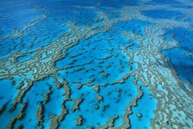 Jean-Paul Ferrero - Aerial view of coral formations in Hardy Reef, Great Barrier Reef, Queensland, Australia