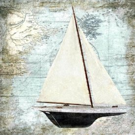 Karen J. Williams - Sailboat Map I