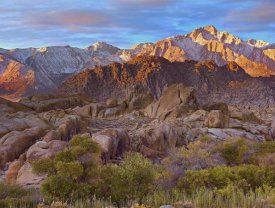 Tim Fitzharris - Sun illuminating the Alabama Hills, California
