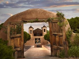 Tim Fitzharris - Church and gate, El Santuario de Chimayo, New Mexico